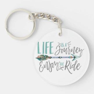 Life is a Journey Enjoy the Ride Boho Wanderlust Keychain