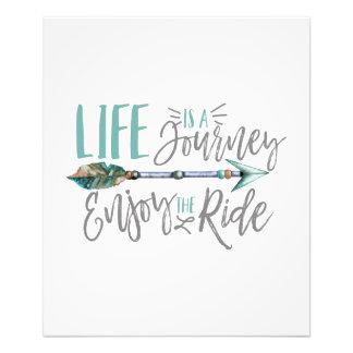 Life is a Journey Enjoy the Ride Boho Wanderlust Photo Print