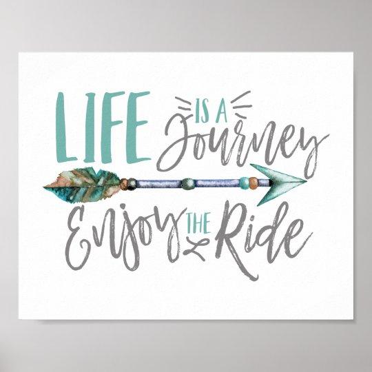 Life is a Journey Enjoy the Ride Boho Wanderlust Poster