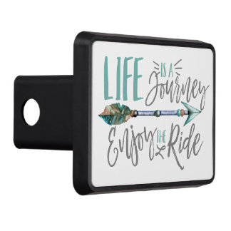 Life is a Journey Enjoy the Ride Boho Wanderlust Trailer Hitch Cover