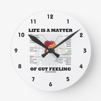 Life Is A Matter Of Gut Feeling Anatomical Humor Clocks
