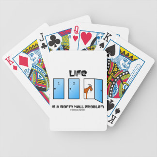 Life Is A Monty Hall Problem Three Doors Goat Playing Cards