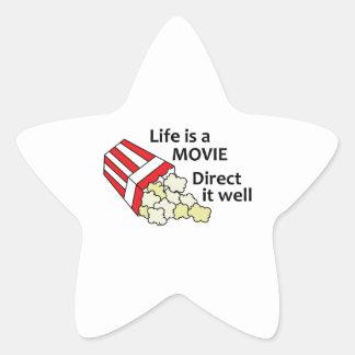 LIFE IS A MOVIE STAR STICKER