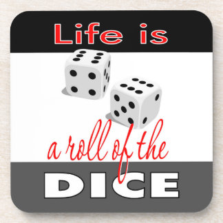 Life is a Roll of the Dice Corkback Coasters