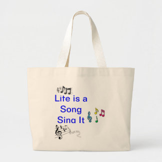 life is a song large tote bag