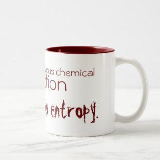 Life is a spontaneous chemical reaction Two-Tone coffee mug