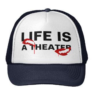 Life is a theater horror custom trucker hat