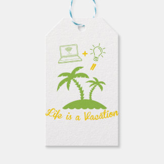 Life is a Vacation Gift Tags