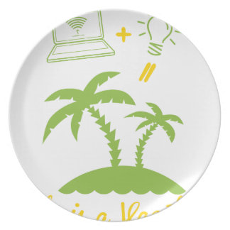 Life is a Vacation Plate