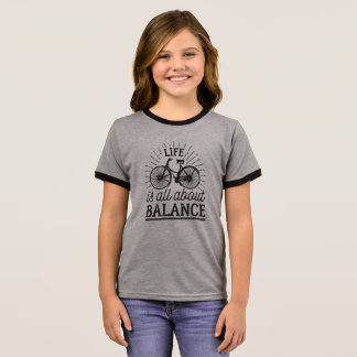 Life is all About Balance Quote   Ringer Shirt