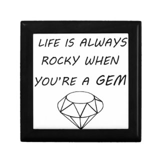 life is always rocky when you're a gem gift box