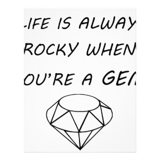 life is always rocky when you're a gem letterhead