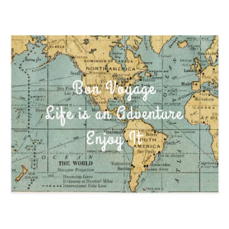 Life is an Adventure Vintage Map | Post Card