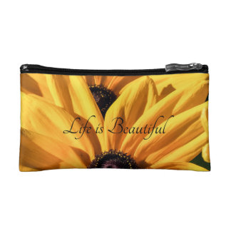 Life is Beautiful Black Eyed Susan Cosmetic Bag