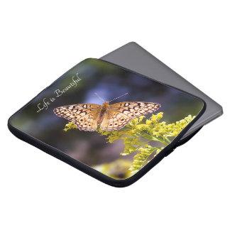 Life is Beautiful Butterfly Neoprene Laptop Sleeve