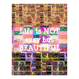 Life is Beautiful :  Editable Text .. DIY Template Customized Letterhead