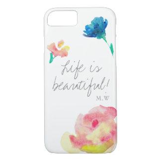 Life is beautiful, elegant, vintage, personlized iPhone 8/7 case