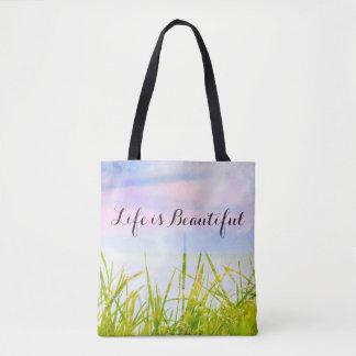 Life is beautiful, Magical colors tote bag