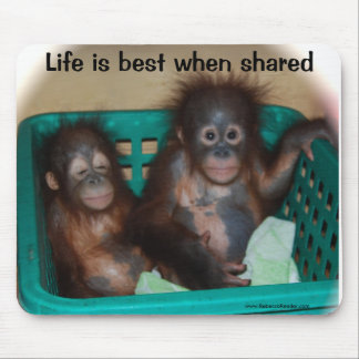 Life is Best when shared Love Mouse Pad