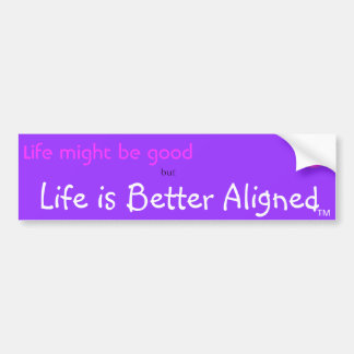 Life is Better Aligned bumper sticker