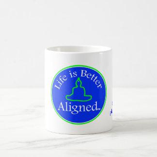 Life is Better Aligned cup Basic White Mug