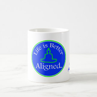 Life is Better Aligned cup Classic White Coffee Mug