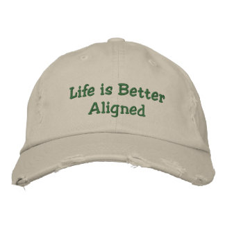 Life is Better Aligned hat Embroidered Baseball Caps