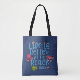 Life is Better at the Beach Florida Souvenir Bag