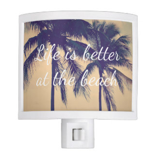 Life is better at the beach palm tree night light