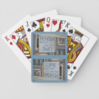 Life is Better at the Beach Playing Cards