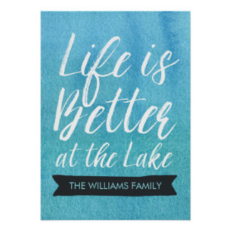 Life is Better at the Lake Personalized Poster