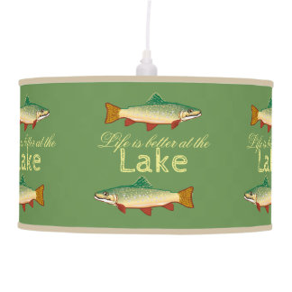 Life is better at the Lake | Rainbow Trout Pendant Lamp