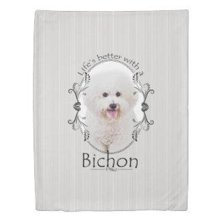 Life is Better Bichon Duvet Cover
