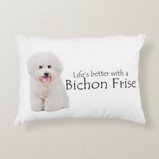 Life is Better Bichon Pillow
