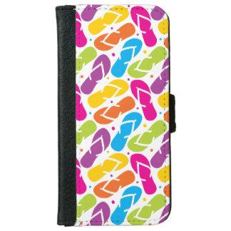 Life is Better in Flip Flops Pattern iPhone 6 Wallet Case