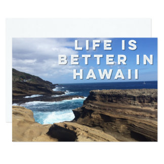 Life Is Better In Hawaii Invitation Card