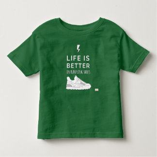Life Is Better In Running Shoes Toddler T-shirt