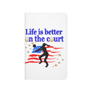 LIFE IS BETTER ON THE COURT USA VOLLEYBALL DESIGN JOURNALS