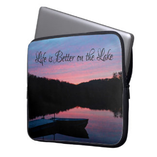 """LIfe is Better on the Lake"" laptop sleeve"