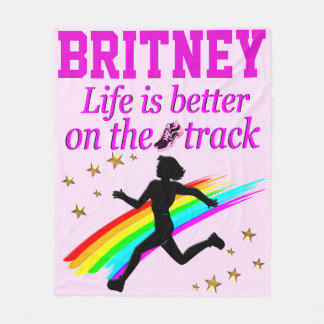 LIFE IS BETTER ON THE TRACK PERSONALIZED BLANKET