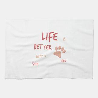 Life is Better Shih Tzu Towels