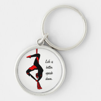 Life is better upside down keychain