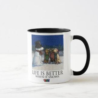 Life Is Better When It Snows - Labrador Retrievers Mug