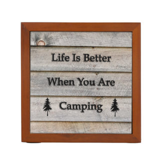 Life is better when you are camping desk organizer