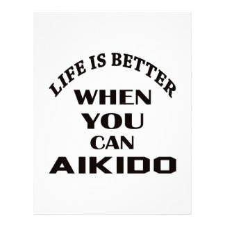 Life is better when you can Aikido Letterhead Template