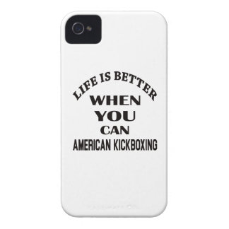 Life Is Better When You Can American kickboxing iPhone 4 Case-Mate Cases