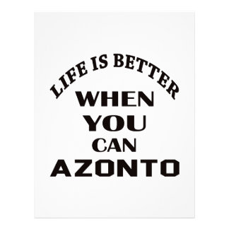 Life is better When you can Azonto dance Customized Letterhead