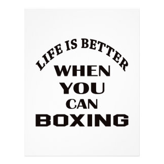 Life Is Better When You Can Boxing Customized Letterhead