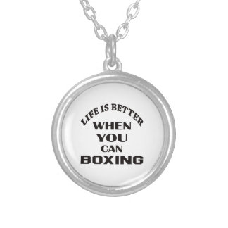 Life Is Better When You Can Boxing Silver Plated Necklace
