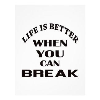 Life is better When you can Break dance Customized Letterhead
